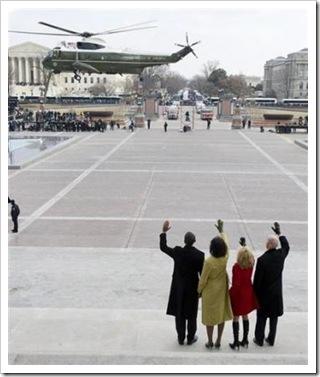 waving goodbye to Bush