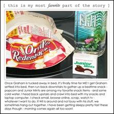 monday - bedtime snack insert
