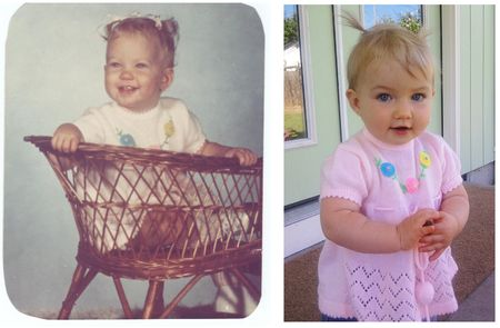 Jess and ellie age 1