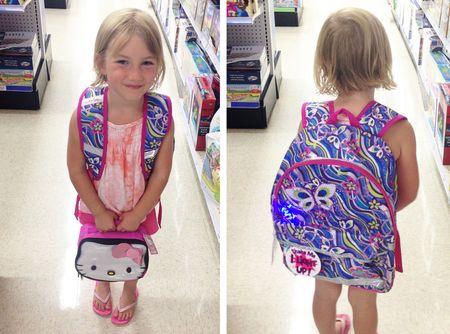 E's new backpack