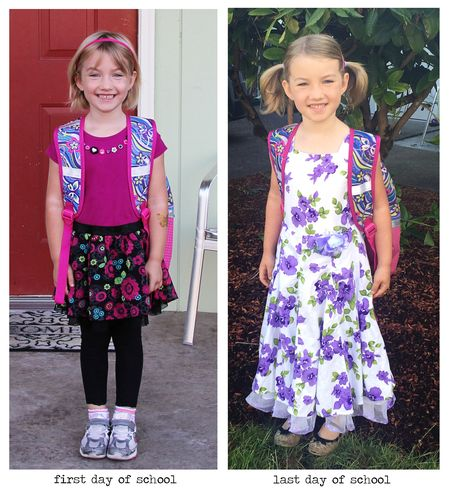 E's first and last day of school