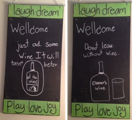 Ellie's wine art