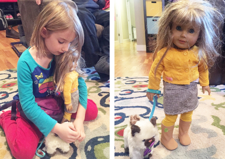 Ellie and her doll