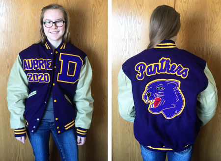Aubrie's letter jacket